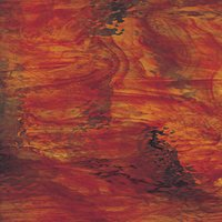 Oceanside Ruby Red with Amber Streaks Waterglass