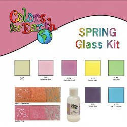 Colors For Earth Spring Glass Paint Kit