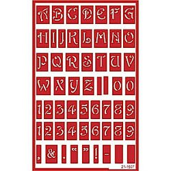 Uppercase Alphabet Stencil Over N Over