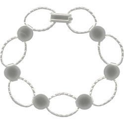 Silver Plated Disk and Loop Bracelet
