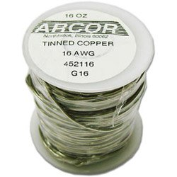 Tinned Copper Wire 16 Gauge 1 lb