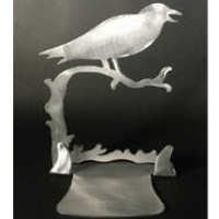 Crow Brushed Aluminum Art Stand