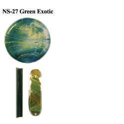 Northstar Glassworks 027 Green Exotic Rod 33 COE