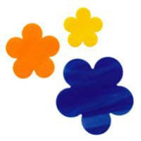 Wispy Blue Opal Flower Precut Fusible Glass Shape 96 COE